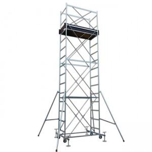 Trabattello in acciaio a norma europea altezza struttura fino a mt 12